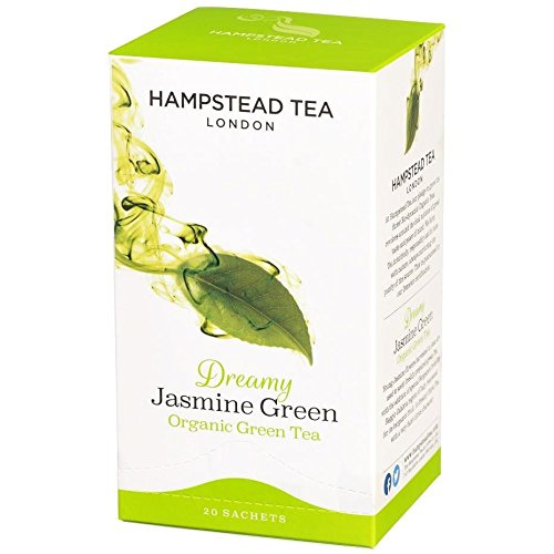Hampstead Tea London Grüner Tee mit Jasmin - 1 x 20 Teebeutel (40 Gramm)