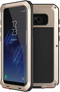 Shockproof Case For Samsung Galaxy S8 Plus Aluminum Metal Case,[Military Heavy Duty]Extreme Shock/Dust/Dirt/Snow Proof Cover Case (Gold)