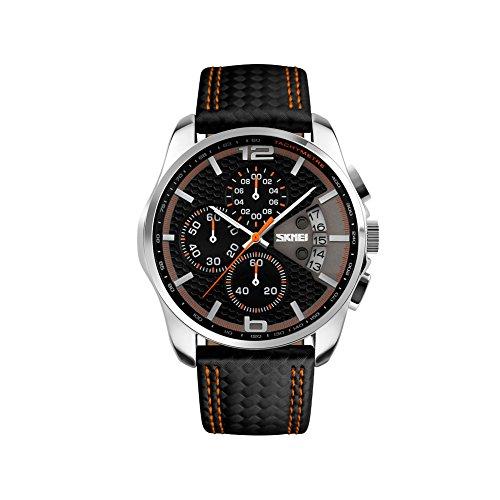 Reloj de pulsera iWatch para hombre, 30 m, resistente al