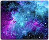 Gaming Mouse Pad,Blue Purple Galaxy Nebula Universe Space Mouse Pad Non-Slip Rubber Base Mouse Pads for Computers Laptop Office, 9.5