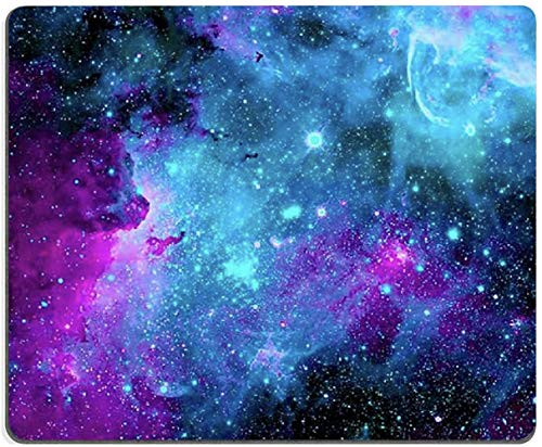 Gaming Mouse Pad,Blue Purple Galaxy Nebula Universe Space Mouse Pad Non-Slip Rubber Base Mouse Pads for Computers Laptop Office, 9.5'x7.9'x0.12' Inch( 240mm x 200mm x 3mm)