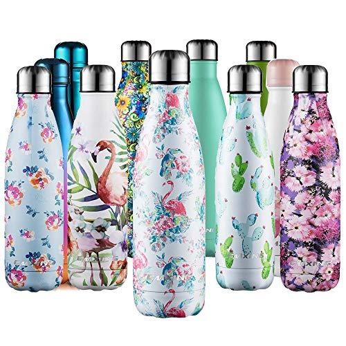 cmxing Doppelwandige Thermosflasche 500 mL / 750 mL mit Tasche BPA-Frei Edelstahl Trinkflasche Vakuum Isolierflasche (Multicolor, 500 mL)
