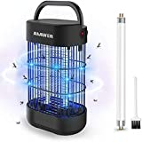 AMUFER Electric Bug Zapper, Mosquito Killer Plug in, 14W High Powered Indoor Electric Mosquito, Bug, Fly Trap for Bedroom, Kitchen, Office with Large Coverage - 1-Pack Replacement Bulbs Included