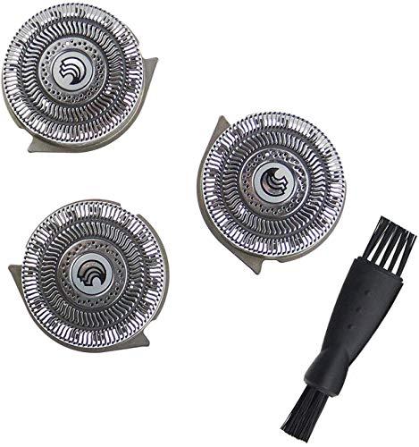 HQ9 Cabezales de Afeitado Compatible con Phi-lips Norelco Smart Touch-XL/Speed-XL, Cuchilla de Afeitar Poweka Compatible con Phi-lips 8100 Series, 8200 Series, 9100 Series y PT / AT900 con Cepillo