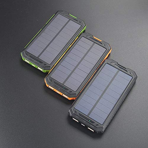 N/V PowerBank Solar Charger Dual USB Solar Panel Charger, Compact for Cell Phone Durable & Waterproof Solar Charger