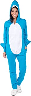 Women's Shark Costume for Halloween - Cute Shark Onesie Jumpsuit for Women