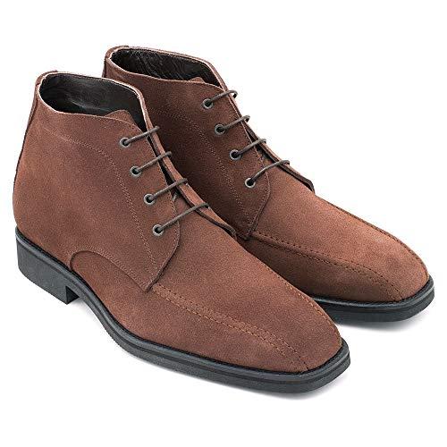 Masaltos - Zapatos con elevador para hombre que aumentan la altura hasta 7 cm. Fabricado en piel. Modelo Ancona