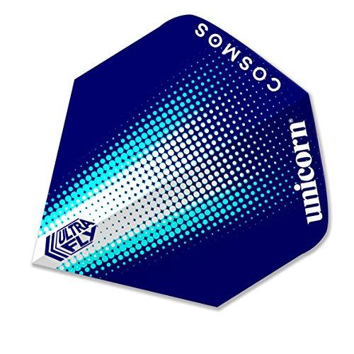 Unicorn - Alette per Freccette Cosmos Comet Ultrafly, Unisex, 68976, Blue/Silver, Plus