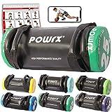POWRX Power Bag I 5-30 kg I Kunstleder Fitness Bag für Functional Fitness (25 kg...