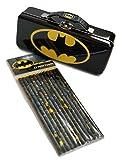 Batman - Storage Tin with 12 Batman Design Pencils Set