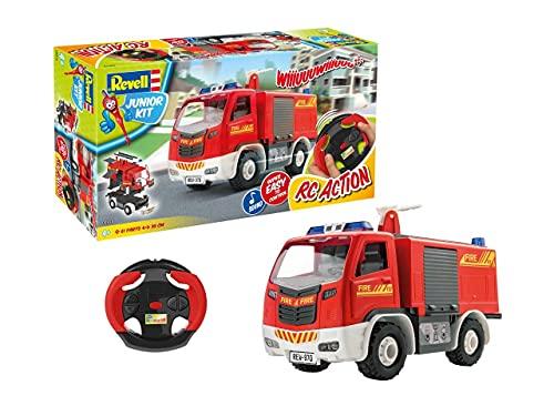 Revell Control 00970 samochód strażacki zdalnie sterowany dla dzieci z pilotem zdalnego sterowania 2,4 GHz, czerwony