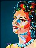 Poster 30 x 40 cm: Sophia Loren von Marie-Armelle Borel -