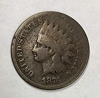 1876 Indian Head Cent 1C Very Good