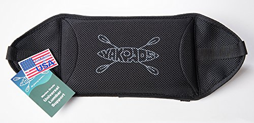 Yakpads Low Back Cushioned Seat Pad, Gel Seat Pad for Kayaks, Portable Seat Cushion for Outdoor Watersports and Recreation - Cascade Creek (Low Back)