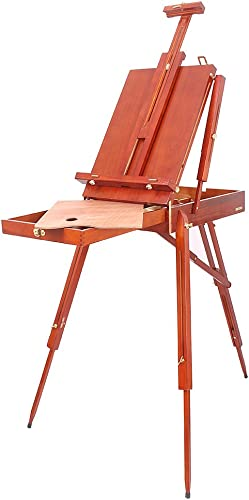 popular Mallofusa French Easel Portable Wooden outlet sale Sketch Box Folding Foldable Outdoor Indoor Art Easel Tripod W/Drawer, Wooden Pallete & outlet sale Shoulder Strap outlet sale