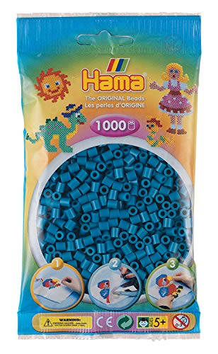 Hama 207-83 Bügelperlen Midi, ca. 1000 Perlen in Petrol