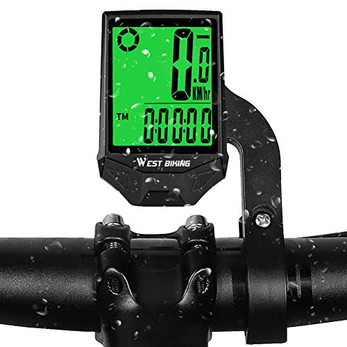 LuTuo Cycle Computer Wireless Bicycle Speedometer, 18 Functions Waterproof LCD Bike Odometer Cycling Computer