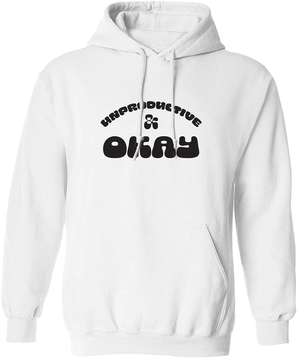 Unproductive & Okay Adult Hooded Sweatshirt
