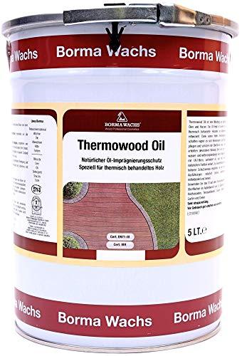 Borma Wachs 5 Liter Thermowood Natur Thermoholz Öl Holzöl (Farblos - 00)