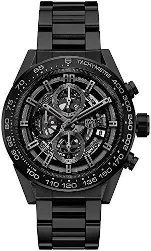 Tag Heuer Carrera CAR2A91.BH0742 Herren-Armbanduhr, mattes schwarzes Keramikgehäuse und Armband