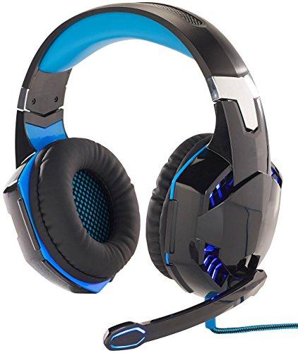 Mod-It PS4 Headset: Beleuchtetes Gaming-Headset mit Kabelfernbedienung & Mikrofon-Schalter (Headset mit Kabel)