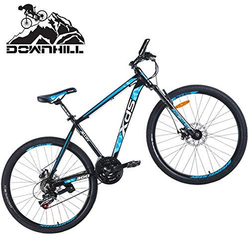 NENGGE Hardtail Mountain Bikes 26 Inch 21 Speed for Men Women, Adults Anti-Slip Dual Disc Brake Mountain Trail Bicycle, Front Suspension All Terrain Mountain Bike,Black Blue,L