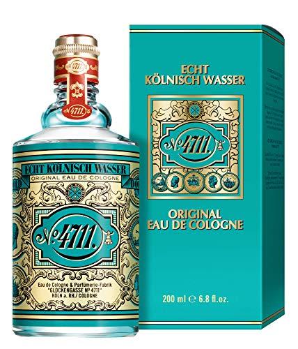 4711® Echt Kölnisch Wasser   Eau de Cologne 200ml Molanusflasche - Duftklassiker im ikonischen Flakon - charakteristischer Duft - unisex - wohltuend für Körper, Geist und Seele