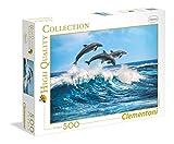 Clementoni- Puzzle 500 Piezas Delfines, Multicolor (35055.1)