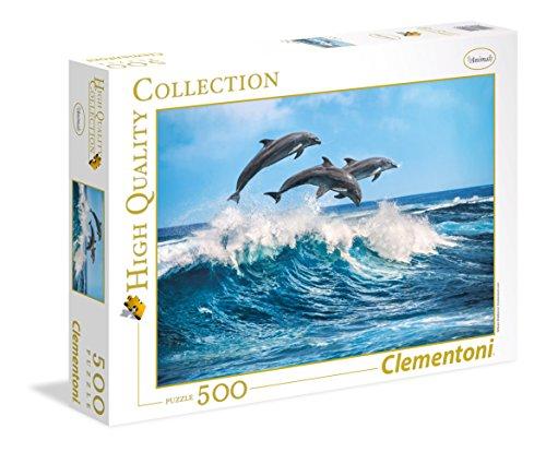 Clementoni 35055 High Quality Puzzle 500 Teile-Delfine