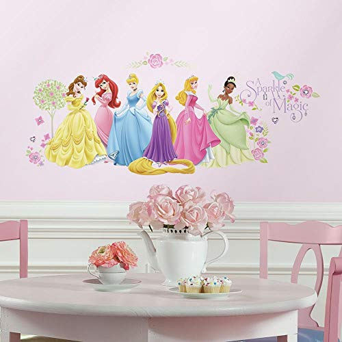 RoomMates Disney Princess Glow Princess Peel and Stick Wall Decals - RMK1903SCS,Multi