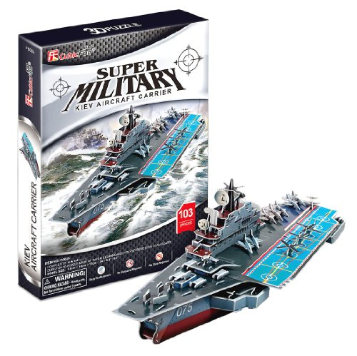 3D three-dimensional puzzle aircraft carrier (japan import)