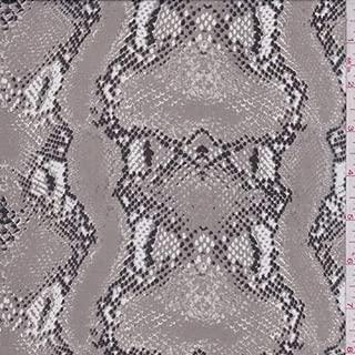Pumice Snakeskin Silk Chiffon, Fabric by The Yard