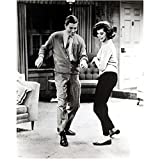 Mary Tyler Moore 8 inch by 10 inch PHOTOGRAPH Mary Tyler Moore The Dick Van Dyke Show Ordinary People B&W Pic Full Body Dancing w/Dick Van Dyke in Livingroom kn