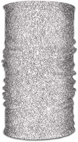 Multifunctionele hoofddeksel,Uniek Hoofddeksel,Elastische hals Gaiter,Magic Gezichtsmasker,Persoonlijke hals sjaal,Zilveren Glitter Gedrukt Hoofddoek 50x25cm,Haarband Voor Mannen Vrouwen