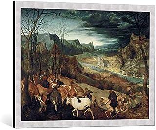 """Kunst für Alle Image encadrée: Pieter Brueghel der Ältere P Bruegel d Ä Heimkehr der Herde 1565"""" - Impression d'art décora..."""