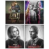 WandaVision TV Series - Set of 4 (8 inches x 10 inches) Netflix - Elizabeth Olsen as Wanda Maximoff Paul Bettany as Vision