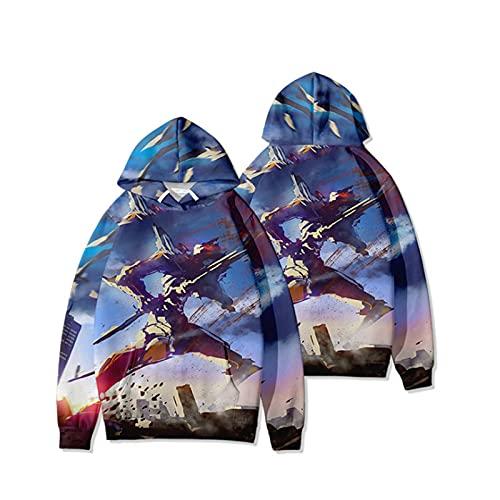 2021 New Anime Hoodie Pullover - Neon Genesis Evangelion EVA Imprimir Jersey (Asuka Langley Soryu & Ayanami Rei) Impresión 3D Cosplay Sweater con cordón 2021 Nuevos Hombres y Mujeres Pultos de manga l