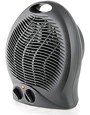 Taurus Gobi-Calefactor, termoventilador, silencioso, 2000 W, termostato Ajustable, función ventilación, 2 Posiciones de Calor, asa de Transporte, plastico, Negro