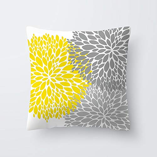 RNXRBB Pineapple Leaf Flower Print ized Cushion Cover Geometry Yellow Skulls Throw Decorative Pillowcase 45x45 Home Decor Yellow pillow07 45cm x 45cm