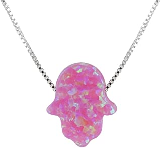 dark blue opal necklace
