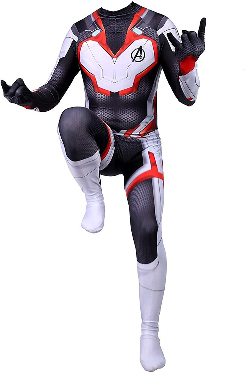 TOYSGAMES Quantum Battle Spider Man Costume Adult Cosplay Lycra Elastic Tights Movie Stage Costume Props (color   Black, Size   XXL)