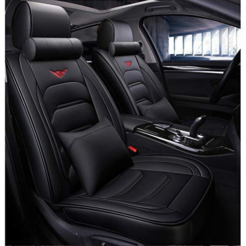 Auto sitzbezüge Autositzbezug Full Set Wasserdichte Ledermatten Zubehör Universal for kompatiblen Audi A3 / A4 / A5 / A6 / A8 / Q3 / Q5 / RS4 (Farbe : Black-Luxury)
