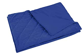 DreamZ 198x122cm Anti Anxiety Weighted Blanket Blankets Bamboo Cover Only Blue 122x198cm 122x198cm