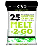 Snow Joe AZ-25-EB Melt-2-Go Nature + Pet Friendly CMA Blended Ice Melter, 25-lb Bag