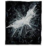 ARYAGO Dark Knight - Manta de peluche (130 x 153 cm), diseño de película Gotham City