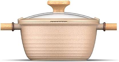 Nonstick Soup Pot Saucepan Pasta Pot with Strainer Lid & Twist Milk Pan Cooking Pot for Home Kitchen Aluminum Alloy (Color...