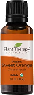 Plant Therapy Sweet Orange Organic Essential Oil 100% Pure, USDA Certified Organic, Undiluted, Natural Aromatherapy, Thera...