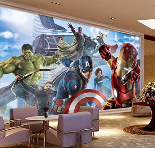 Jointless Custom 3d Captain America Avengers Jungen Schlafzimmer Foto Tapeten Marvel Comics Kinderzimmer Innenarchitektur Dekoration