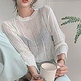 Suéter Para Mujer,Primavera Otoño Mujeres Solid Manga Larga Loose Knitwear Leisure Simple All-Match Thin Sweater Trendy Tops Moda Mujeres Elegante Jerseys Pantalones De Punto Suéteres Y Jerseys, B
