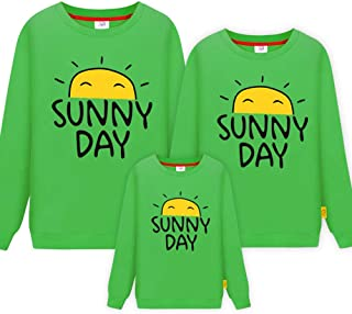 Morbuy Long Sleeve Sweatshirt, Sunny Day Parent-Child Ladies Men Child Tops Crewneck Pullover Hoodie Without Hood Clothes